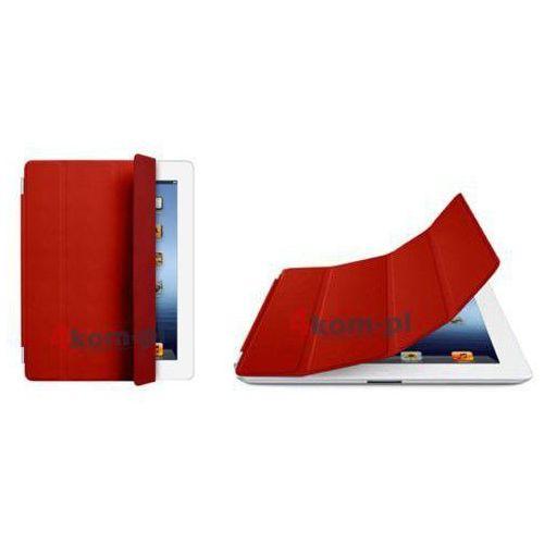 4kom.pl Smart cover etui/stojak do ipad 2 3 4 czerwony - czerwony