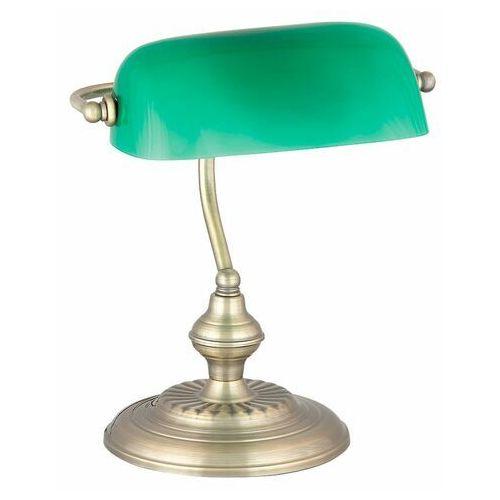 Rabalux Lampa oprawa stołowa lampka biurkowa bank 1x60w e27 brązowy/zielony 4038 (5998250340388)