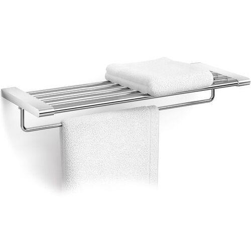 Półka łazienkowa z relingiem na ręcznik atore stal polerowana (40472) marki Zack
