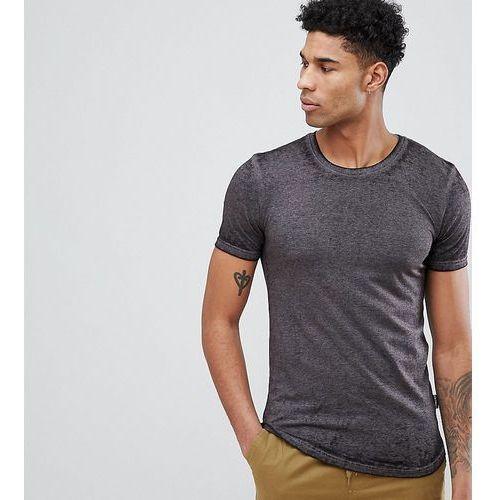 tall longline burnout t-shirt - black, D-struct, XS-L