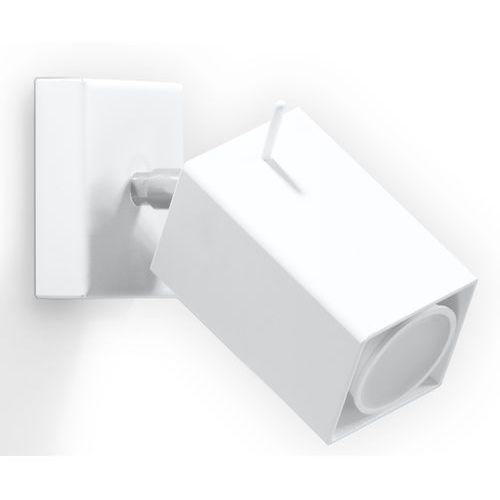Kinkiet lampa ścienna Sollux Merida 1x40W GU10 biały SL.0095 >>> RABATUJEMY do 20% KAŻDE zamówienie!!!
