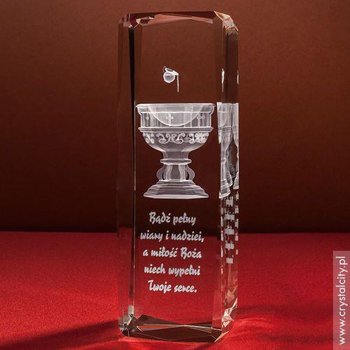 Pamiątka Chrztu »Chrzcielnica 3D« wysoka • statuetka 3D personalizowana - produkt z kategorii- Prezenty z okazji chrztu