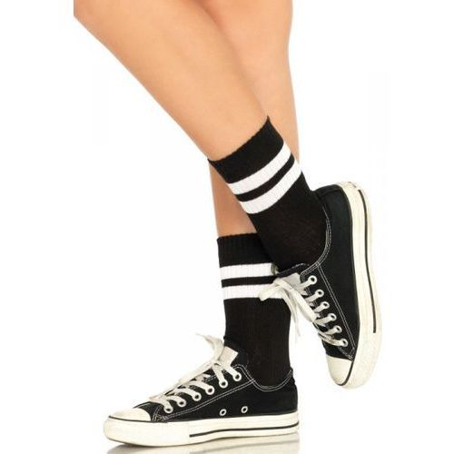 Athletic Striped Anklet Socks