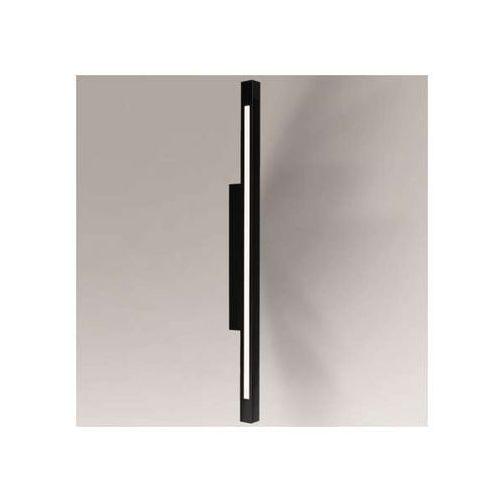 Shilo Lampa ścienna otaru 8045/led/cz prostokątna oprawa do łazienki led 22w listwa ip54 belka czarna
