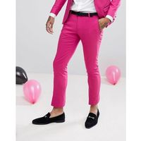 wedding super skinny suit trousers in cotton sateen - pink, Noose & monkey