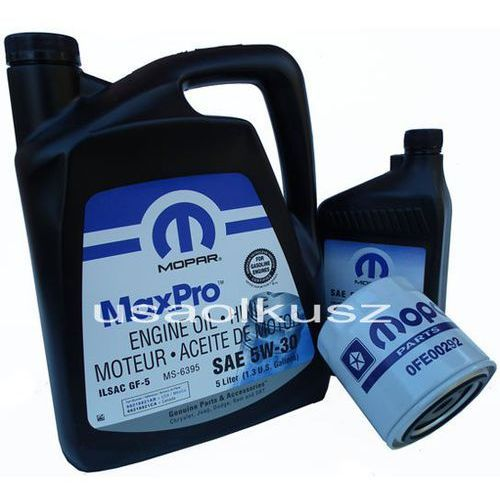 Mopar Oryginalny filtr oraz mineralny olej 5w30 chrysler aspen 4,7 v8 -2008