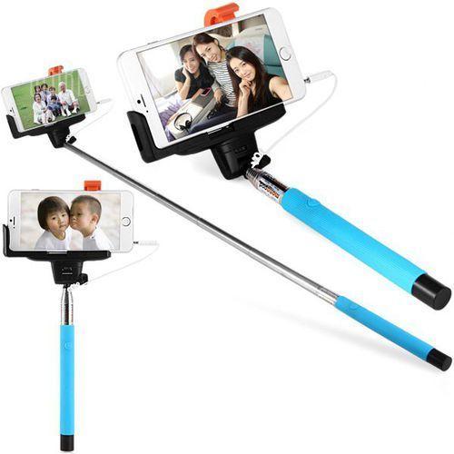 Fashionable self - timer stretch camera monopod with clip 20cm audio cable wyprodukowany przez Gearbest