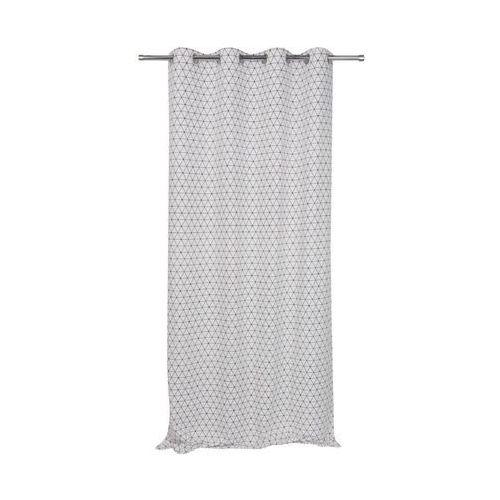 Zasłona bawełniana antares biała 140 x 250 cm na przelotkach marki Jby