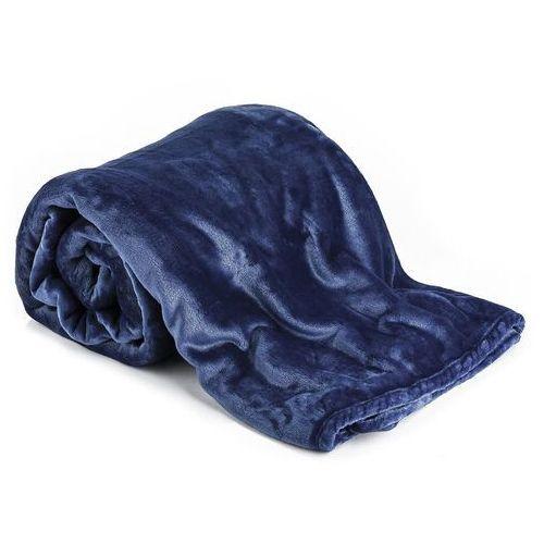 Koc xxl / narzuta na łóżko ciemnoniebieska, 200 x 220 cm marki 4-home