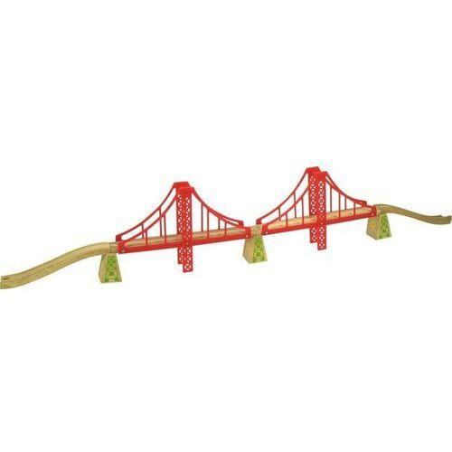 Bigjigs toys Podwójny most wiszący, do zabawy, wyposażenie kolejek drewnianych bigjigs