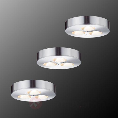 Paulmann Lampa meblowa 93546, led wbudowany na stałe x 3 3 w, 230 v, (Øxw) 7 cmx1.4 cm, aluminiowy (4000870935460)
