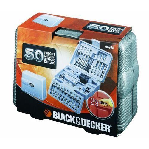 Black & decker Zestaw kulczy nasadowych i bitów black&decker a6988-xj (50 elementów) + zamów z dostawą jutro! (5035048010167)