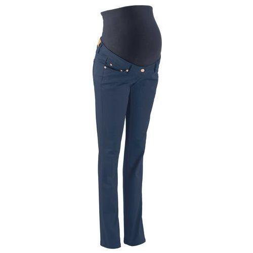 Spodnie ciążowe wyszczuplające, proste nogawki bonprix ciemnoniebieski