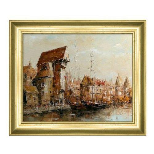 Obraz 24 x 30 cm Gdańsk Żuraw