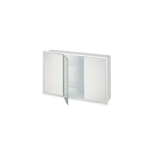 BISK Szafka lustrzana 590x380mm, biała 90502