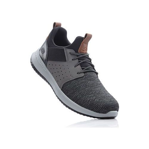 Sneakersy skechers czarno-szary marki Bonprix