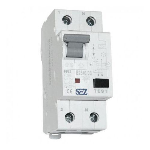 Sez Wyłącznik b25a 30ma 2p 10ka różnicowoprądowy z członem nadprądowym pfi2 fi/ls rcbo 0417 (8585009010417)