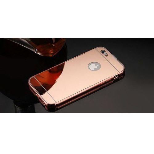 Mirror Bumper Metal Case Różowy   Etui dla Apple iPhone 6 Plus / 6S Plus - Różowy, kolor różowy