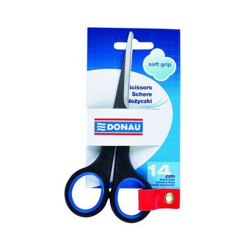 Nożyczki biurowe DONAU Soft Grip, 14cm, niebieskie