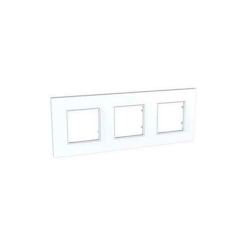 Schneider Ramka potrójna unica quadro mgu2.706.18 biel polarna