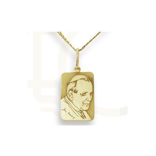 Węc - twój jubiler Medalik z żółtego złota z święty jan paweł ii, wec-z-jp-ii-5-1 - ok. 17 mm x 8,8 mm