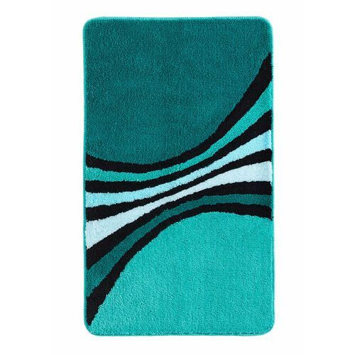 Bonprix Dywaniki łazienkowe w paski niebieskozielony morski