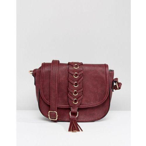 Yoki fashion Yoki saddle bag with tassel detail - red