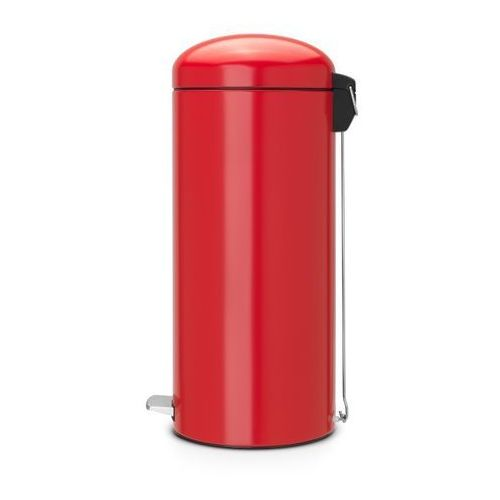 Brabantia - Kosz pedałowy 'Retro' - wiaderko plastikowe – 30L - czerwony passion