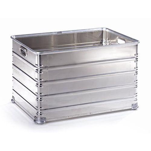 Skrzynka transportowa i skrzynka do ustawiania w stos z aluminium, poj. 220 l, n marki Zarges