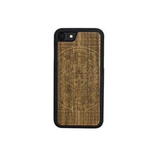 Apple iPhone 8 - etui na telefon Wood Case - Kalendarz Aztecki - limba