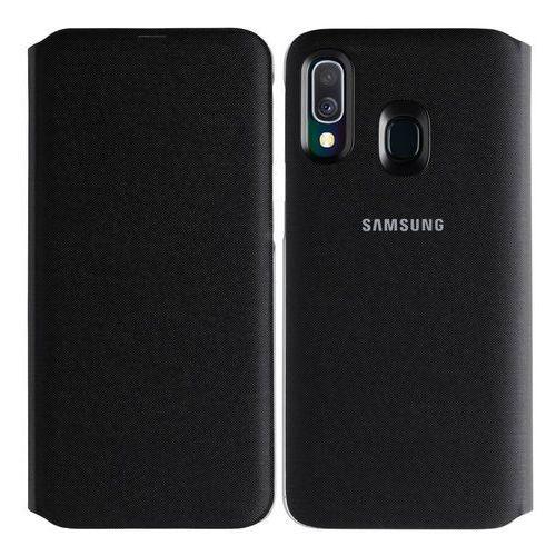 Samsung galaxy a40 wallet cover ef-wa405pb (czarny) (8801643764067)