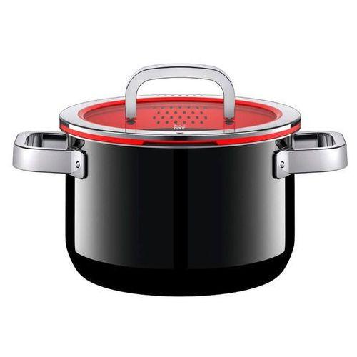WMF Fusiontec Functional garnek 24cm, 6,4l z pokrywą, czarny, kolor czerwony