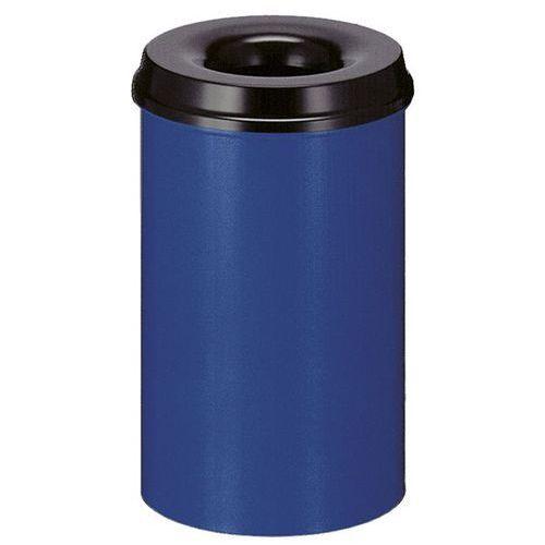 Vepa bins Kosz na papier, samogaszący, poj. 20 l, korpus niebieski / głowica gasząca czarn