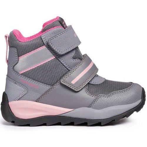 buty zimowe za kostkę dziewczęce orizont 30 szary marki Geox