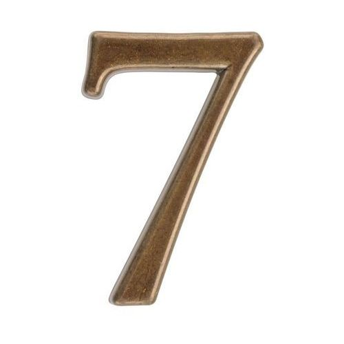 Cyfra 7 wys. 5 cm metalowa brązowa (5901912823037)