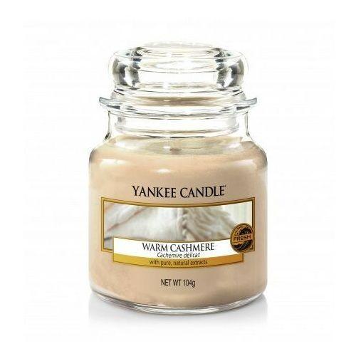Świeca zapachowa mały słój warm cashmere 104g marki Yankee candle