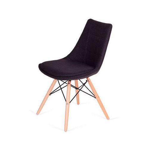 Komfortowe krzesło fabric do jadalni na drewnianych nogach marki King home