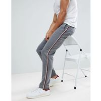 Stradivarius Slim Fit Trousers With Side Stripe Grey - Grey