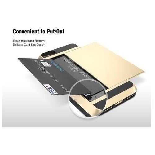 E-webmarket Etui typu zbroja z miejscem na kartę kredytową dla iphone 8 plus - białe - biały \ iphone 8 plus