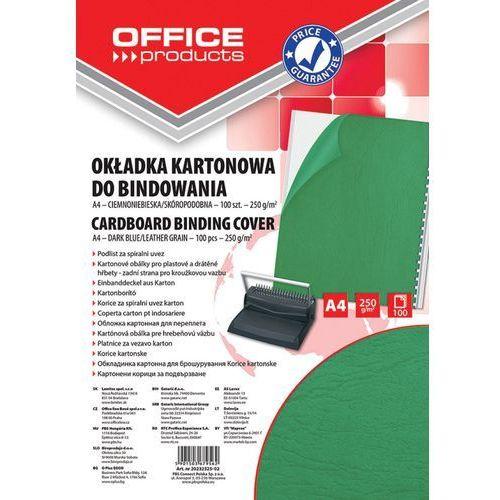 Office products Okładki do bindowania , karton, a4, 250gsm, skóropodobne, 100szt., zielone