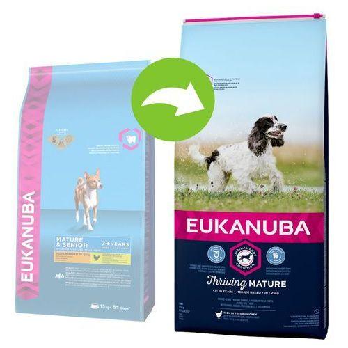 Eukanuba Thriving Mature Medium Breed, kurczak - 2 x 15 kg