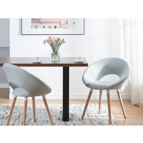 Beliani Zestaw do jadalni 2 krzesła jasnoniebieskie roslyn (4260586358827)