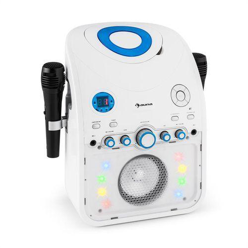 starmaker zestaw karaoke odtwarzacz cd bluetooth aux efekt świetlny led 2 x mikrofon marki Auna