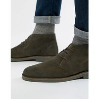 Selected homme suede desert boots - green