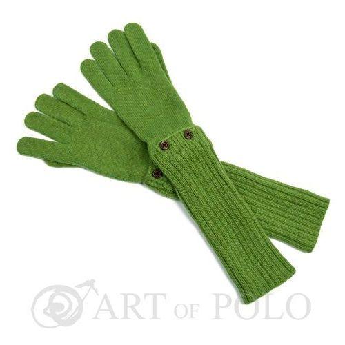 Jasnozielone uniwersalne rękawiczki 3 w 1 długie, krótkie, mitenki - zielony marki Evangarda