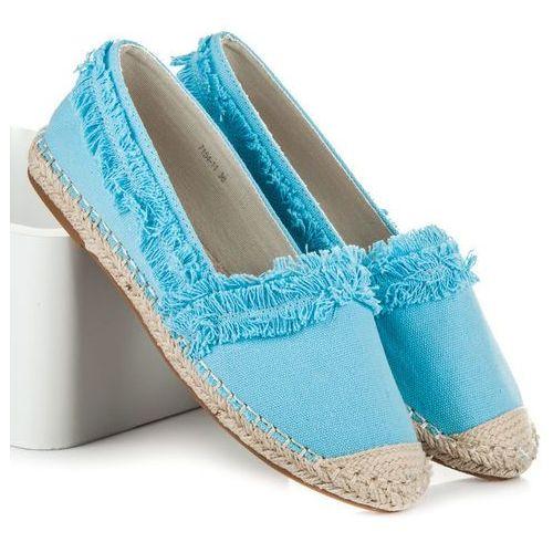 Niebieskie espadryle z frędzelkami - odcienie niebieskiego, Vices