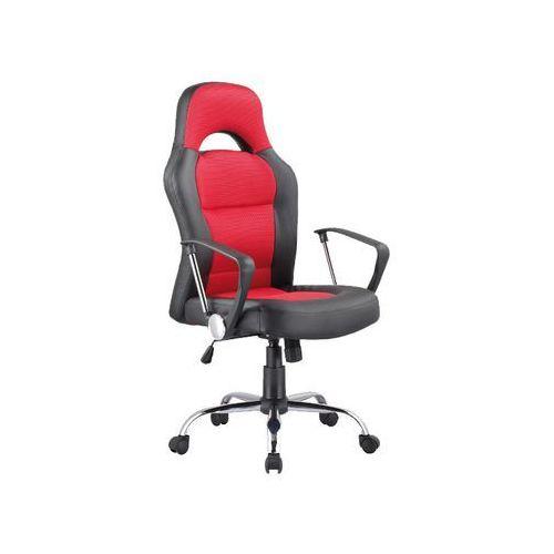 Fotel Obrotowy Q-033 Czarny Czerwony