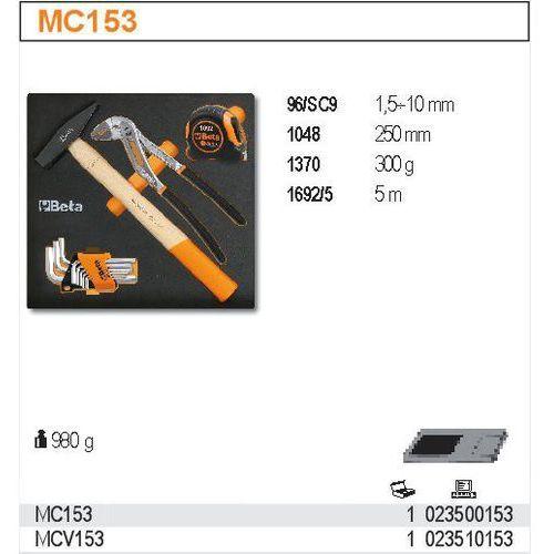 Beta Zestaw narzędzi, 12 elementów, w miękkim wkładzie profilowanym, model 2350/mc153