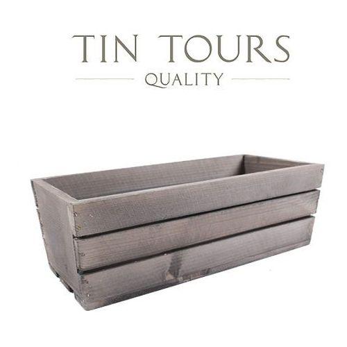 Tin tours sp.z o.o. Szara skrzynka drewniana 60x18x15h cm