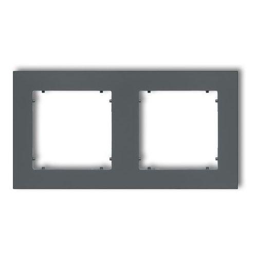 Ramka podwójna Karlik Mini 28MR-2 grafitowy mat (5903268589230)